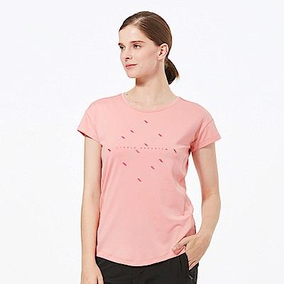 【HAKERS 】女 抗UV快乾圓領衫-冰莓