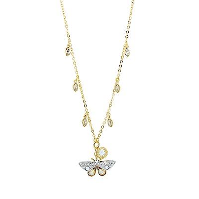 SWAROVSKI 施華洛世奇 Magnetic璀璨水晶蝴蝶造型金色項鍊