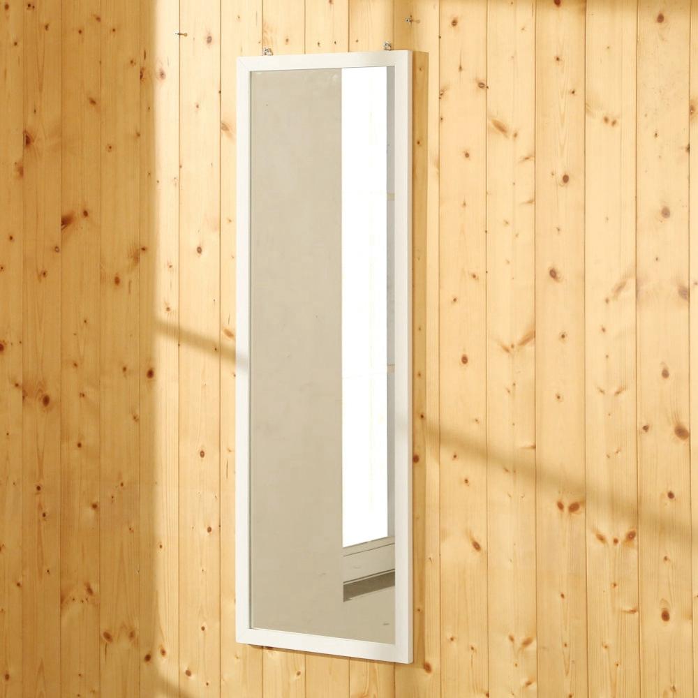 BuyJM 優雅白實木框長型壁鏡/掛鏡 寬32x高94cm