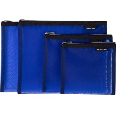 《TRAVELON》旅行收納網袋4件(藍)