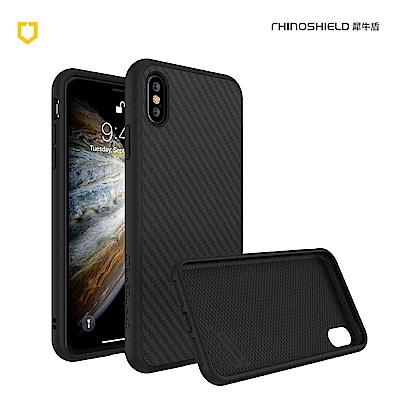 犀牛盾iPhone Xs Solidsuit碳纖維防摔背蓋手機 - 黑色