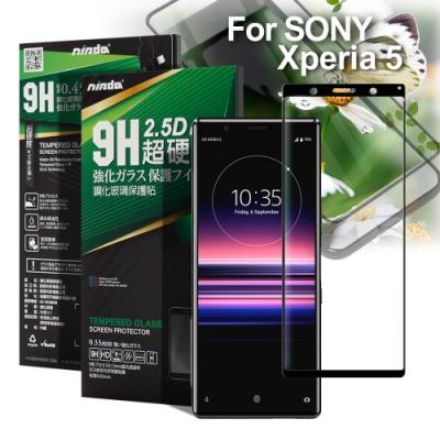 NISDA for SONY Xperia 5 完美滿版鋼化玻璃保護貼-黑