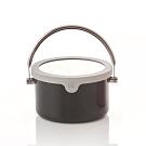 JIA Inc.虹彩鋼 不鏽鋼琺瑯提鍋16cm(黑色)(快)