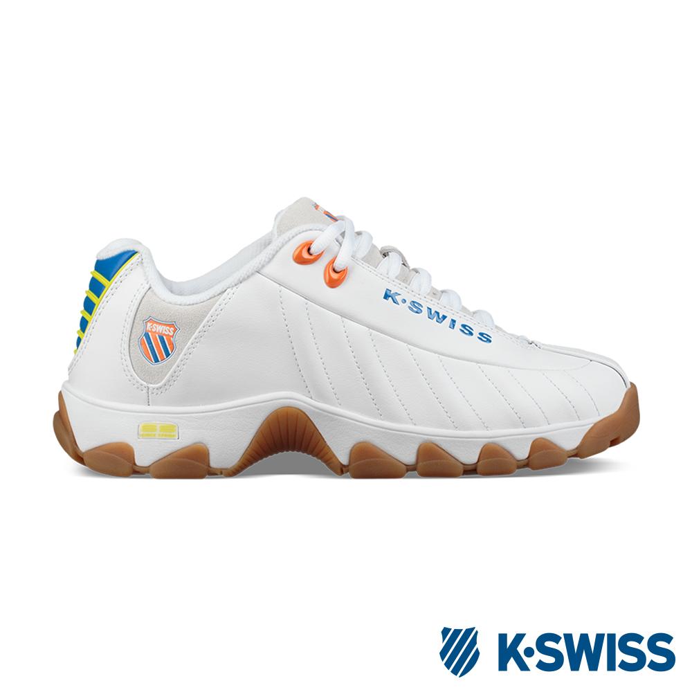 K-SWISS ST329 Heritage 老爹鞋-男-白/藍/橘