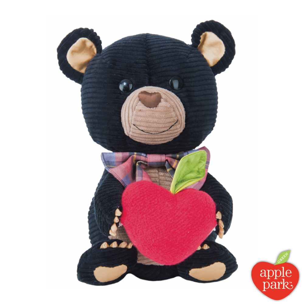 美國 Apple Park 有機棉玩偶禮盒 - 黑色小熊 @ Y!購物
