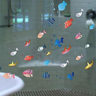 半島良品 DIY無痕壁貼-快樂小魚 XL2003 30x40cm