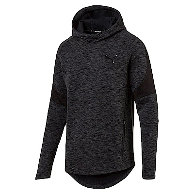 PUMA-男性基本系列Evostripe長厚連帽T恤-黑色-亞規