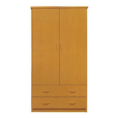文創集 戴倫環保3尺塑鋼二門二抽衣櫃(二色)-91x52.5x180cm-免組