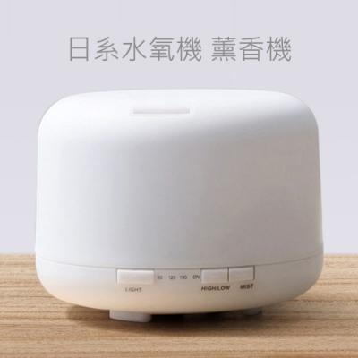 日系水氧機 薰香機 空氣加濕機 小夜燈 加濕器 600ml (七彩炫光)
