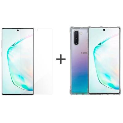 Metal-Slim Samsung Galaxy Note 10+ 防摔殼+防爆膜組合包