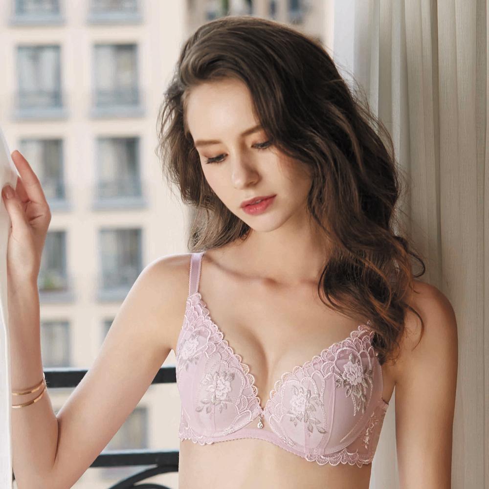 華歌爾-伊珊露絲 深V系列 B-D 罩杯內衣(丁香紫)性感豐胸