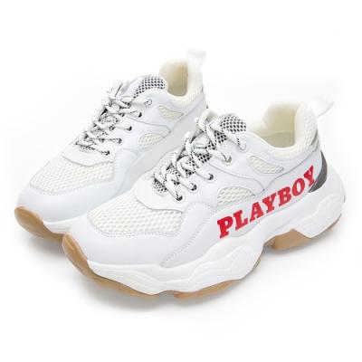 PLAYBOY RetroII 兔兔老爹鞋-白紅-Y572516