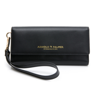 Arnold Palmer- 三折式長夾附手挽帶 Ton(時髦)系列-黑色