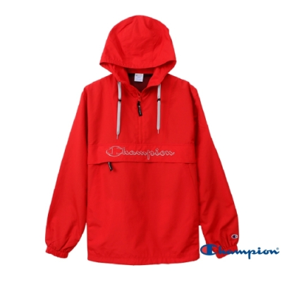 Champion AS Logo刺繡機能連帽上衣(紅色)