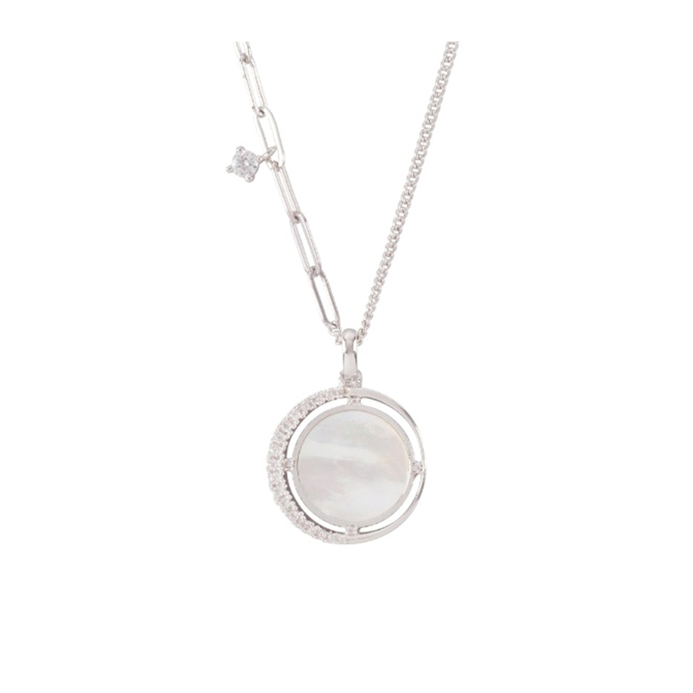NOONOO FINGERS WHITE MOON NECKLACE 項鍊