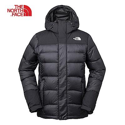 The North Face北面男款黑色輕便防潑水羽絨外套|3RKBKX7