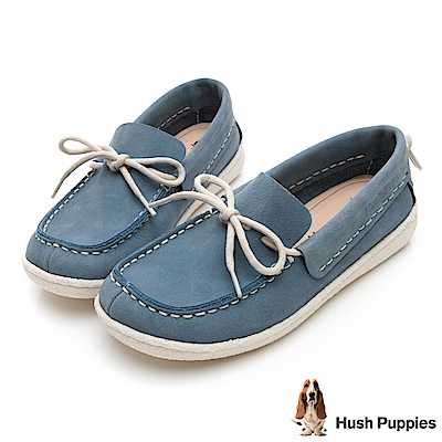 Hush Puppies Albatross 牛皮休閒鞋-水藍