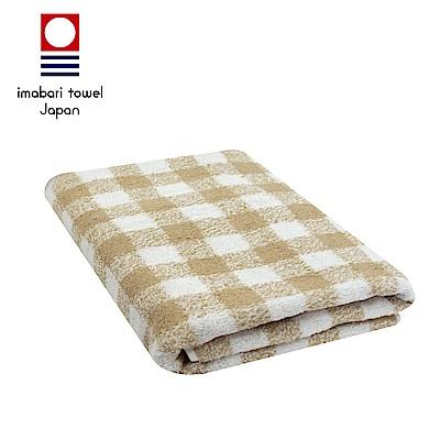 日本今治 純天然有機棉無染色浴巾(方格-秋香綠)
