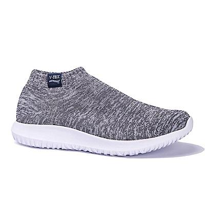 V-TEX 時尚針織耐水鞋/超輕量襪鞋 地表最強防水透濕襪鞋-靜動灰(男)