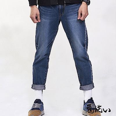 鬼洗 BLUE WAY 潮流鬼洗–縱系復古舒適九分錐型褲(705)