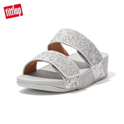 FitFlop MINA GLITTER MIX SLIDES寬帶涼鞋-女(銀色)