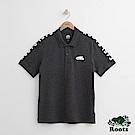 Roots 男裝-雙肩印花短袖POLO衫-灰色