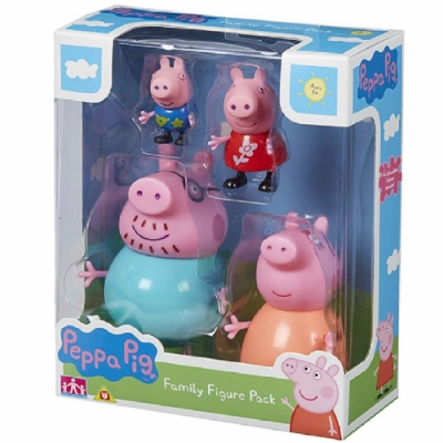 PEPPA PIG 粉紅豬小妹-溫馨家庭公仔4入