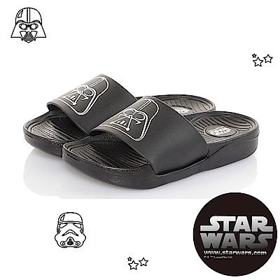StarWars童鞋 星際大戰 黑武士 輕量減壓室內外拖鞋-黑