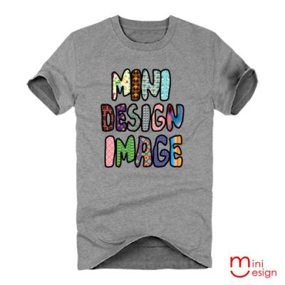 (男款)MINIDESIGN彩色字母潮流設計短T 三色-Minidesign