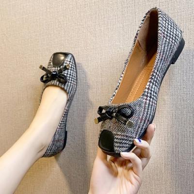 KEITH-WILL時尚鞋館 美搭款方格悠樂活淑女鞋-黑