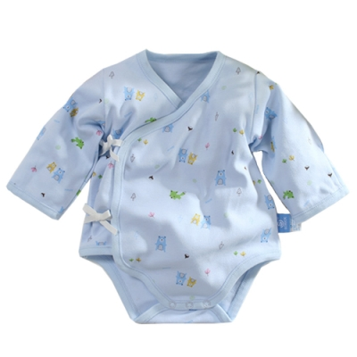台灣製純棉厚款寶寶護手連身衣 b0070 魔法Baby