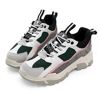 PLAYBOY Vintage II兔兔老爹鞋-灰粉-Y532029