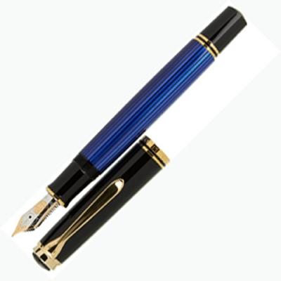 德國PELIKAN百利金 藍桿18k鋼筆*M800