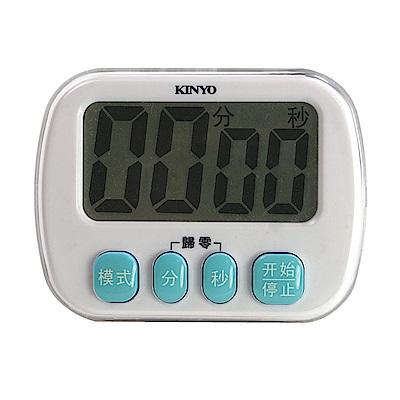 KINYO 防潑水電子式雙模式超大螢幕正倒數計時器