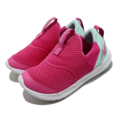 New Balance 休閒鞋 Step Wide 寬楦 童鞋 紐巴倫 輕便 易穿脫 中童 粉 藍 POSTEPBRW