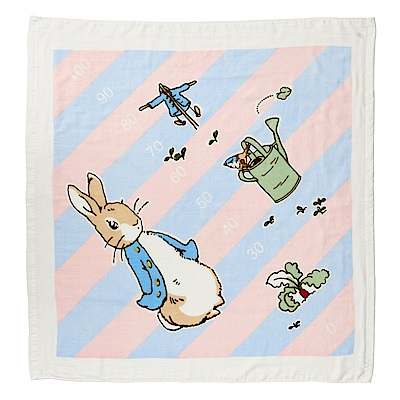 奇哥 比得兔身高尺紗布浴巾/包巾-粉紅
