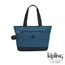 Kipling 復古土耳其藍肩背托特包-LUNA