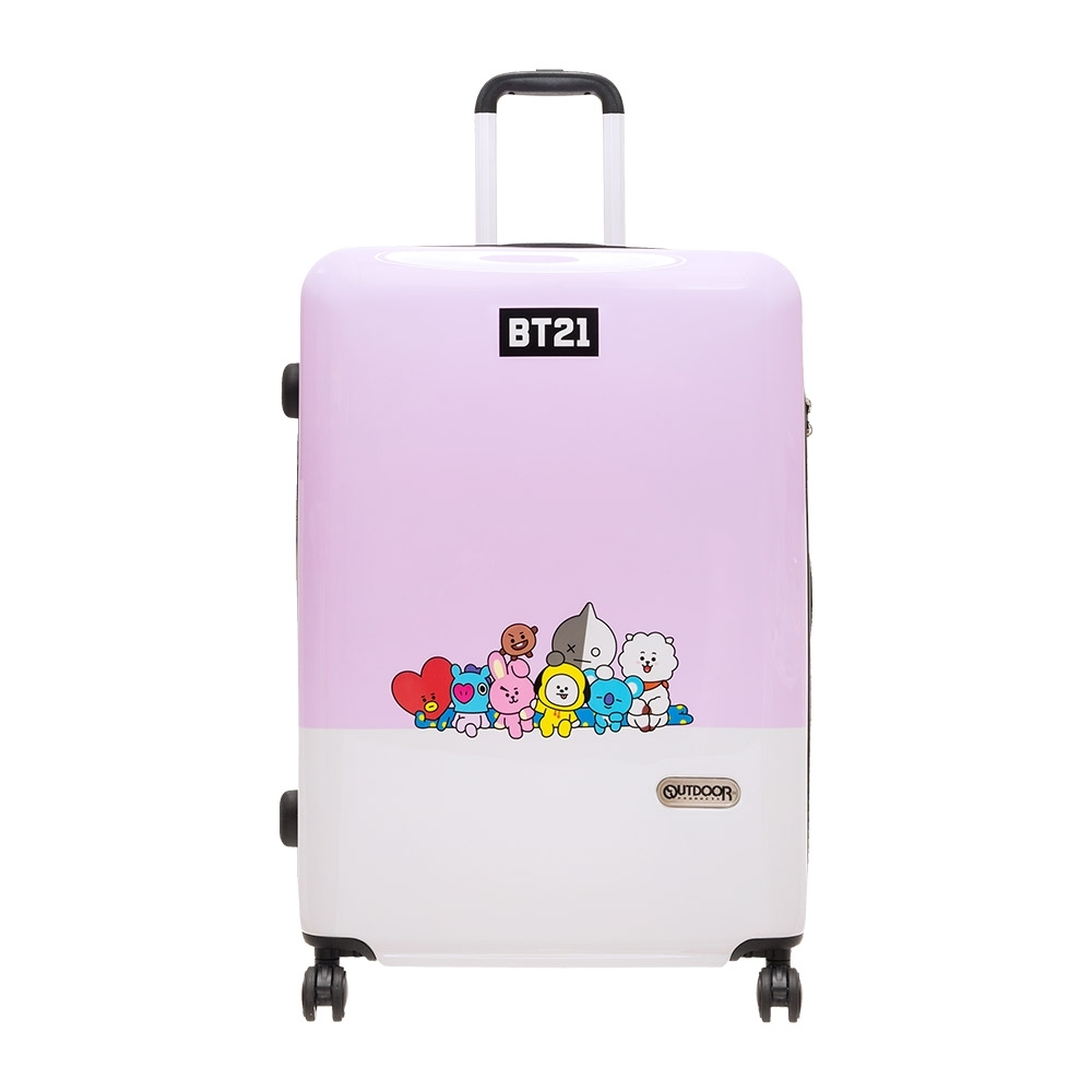 【OUTDOOR】宇宙明星BT21-全員集合行李箱28吋-紫 ODBT1980B28PL