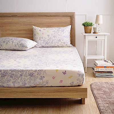 MONTAGUT-夢幻花園-300織紗精梳棉三件式床包組(加大)