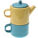 《VERSA》雙色子母壺杯(黃藍480ml)
