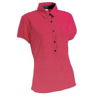 法國【EiDER】女排汗透氣短袖POLO衫/  EIT2651桃