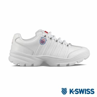 K-SWISS Altezo P復古老爹鞋-女-白/紅/藍