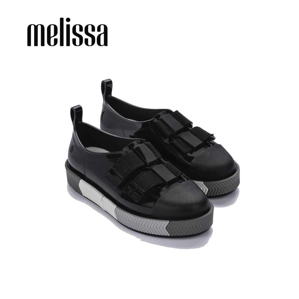 Melissa EASY時尚寬帶裝飾懶人鞋-黑