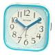 RHYTHM日本麗聲 時尚漸層色系設計貪睡夜光鬧鐘-天空藍/10cm product thumbnail 1