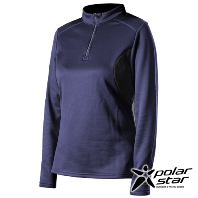 PolarStar 女 高領拉鍊保暖衣『藍紫』P19216