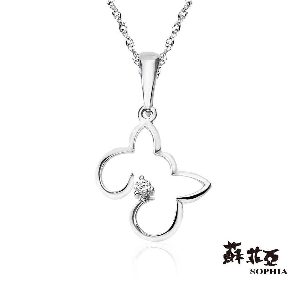 蘇菲亞SOPHIA 鑽石項鍊 - 可愛貓型0.02克拉鑽鍊