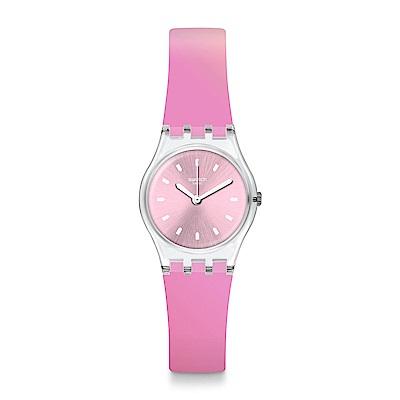 Swatch Deep Wonder系列 SONNENAUFGANG粉紅漸層手錶