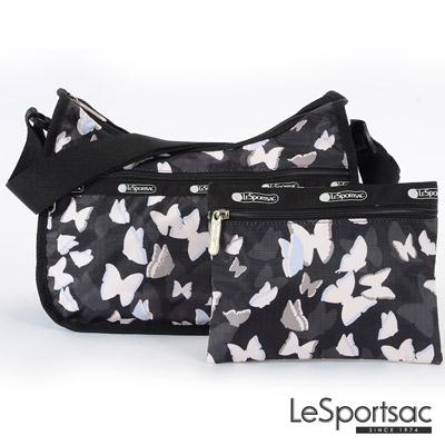LeSportsac - Standard側背水餃包-附化妝包 (蝴蝶剪影)