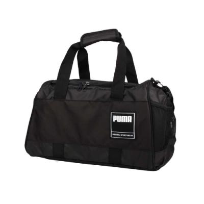 PUMA GYM運動小袋-旅行袋 裝備袋 行李袋 手提袋 肩背袋 健身袋 25L 07736201 黑白