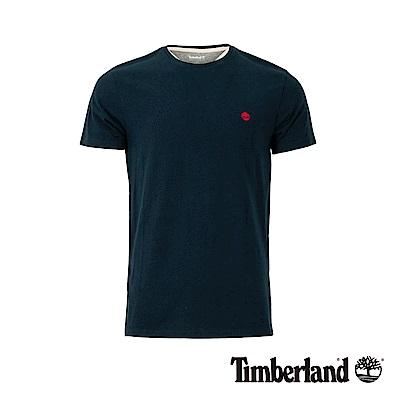 Timberland 男款深寶石藍圓領修身短袖T恤|A1MH6